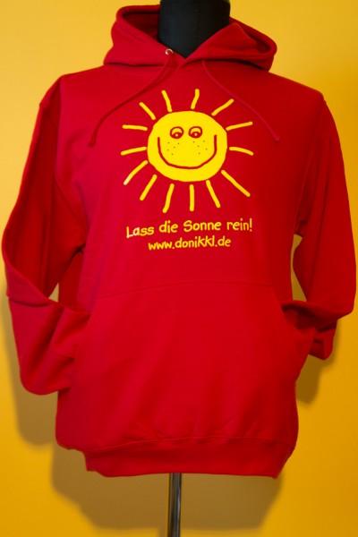"""Teenie-/ Erwachsenen- Kapuzenpulli """"Lass die Sonne rein!"""""""