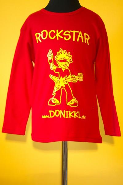 "Langarm - Shirt ""ROCKSTAR"" rot"