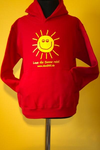 "Kinder - Kapuzenpulli ""Lass die Sonne rein!"""