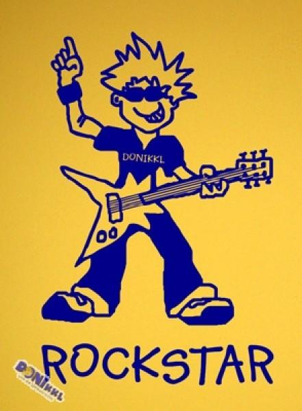 "Wandtattoo ""Rockstar"" rot oder blau"