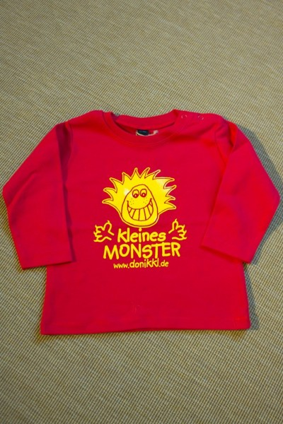 "Baby Langarm - Shirt "" kleines Monster"""