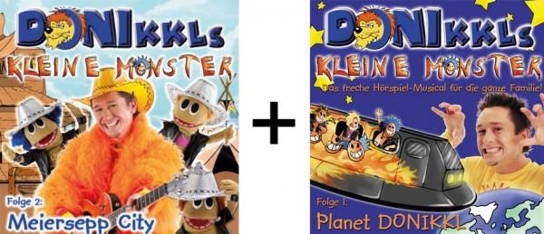 """CD """"DONIKKLs kleine Monster"""" Folge 1 und 2 im Paket"""