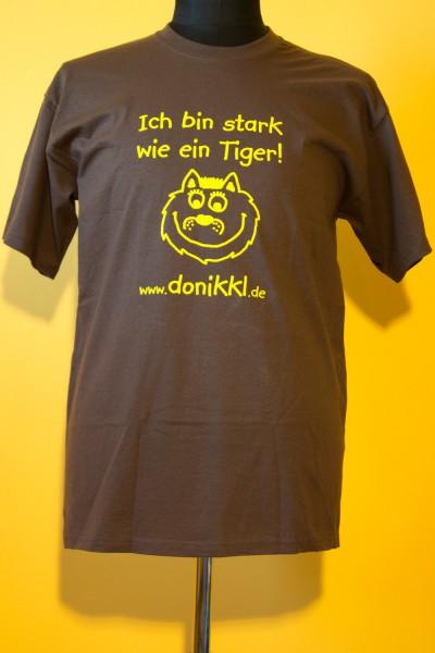 """T-Shirt """" Ich bin stark wie ein Tiger"""" für Erwachsene"""